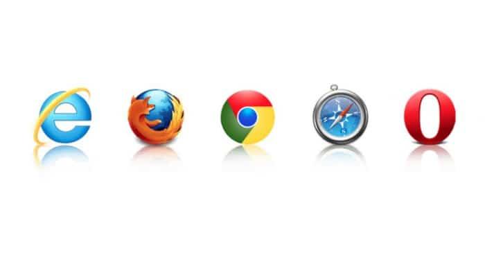 logo's van webbrowsers